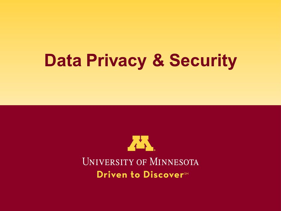 Data Privacy & Security