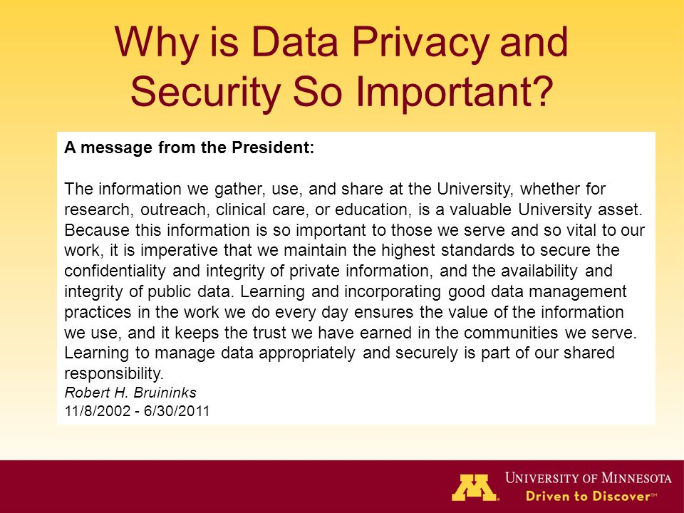 Why is Data Privacy and Security So Important