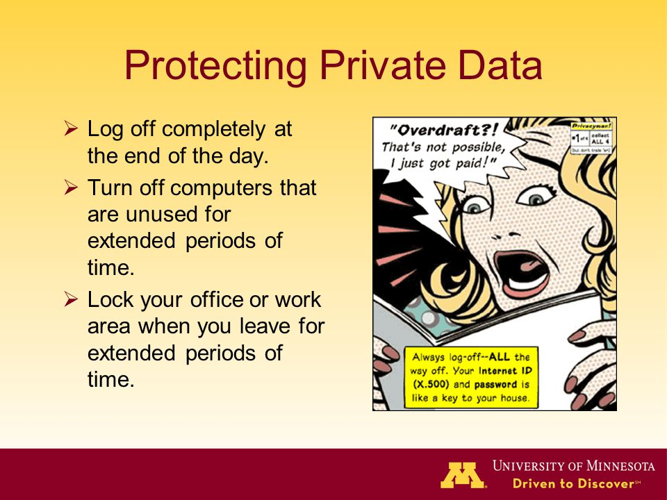 Protecting Private Data