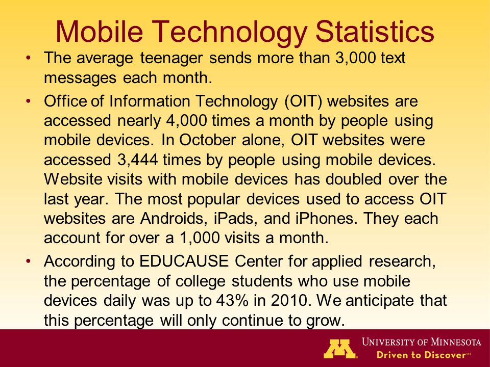 Mobile Technology Statistics