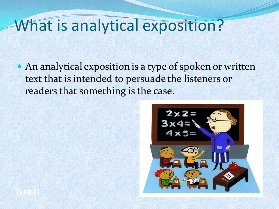 What is analytical exposition