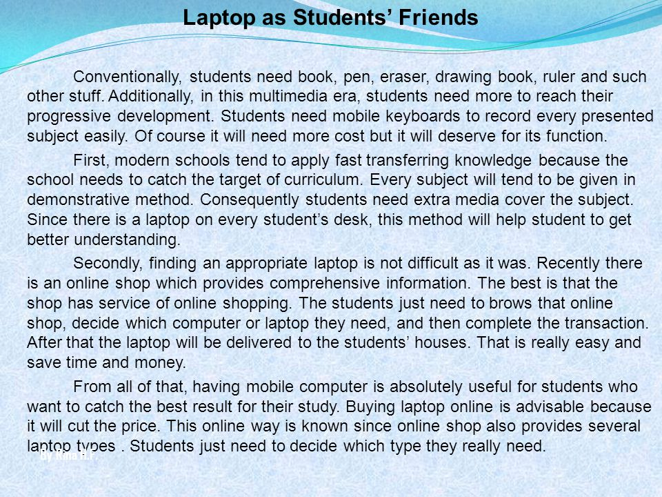 Laptop as Students' Friends