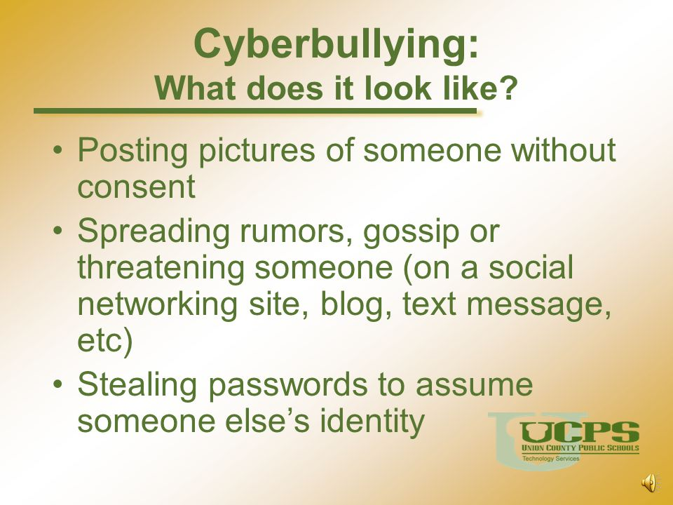 Cyberbullying: What does it look like