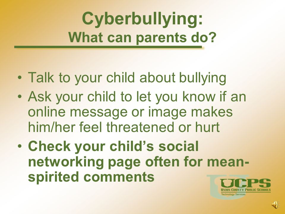 Cyberbullying: What can parents do