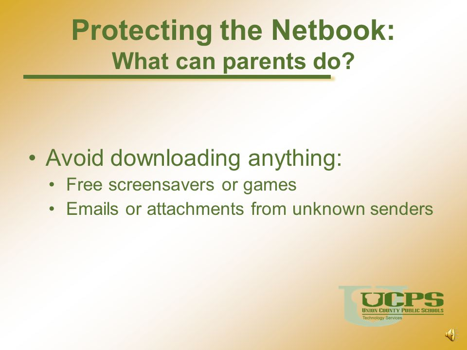 Protecting the Netbook: What can parents do
