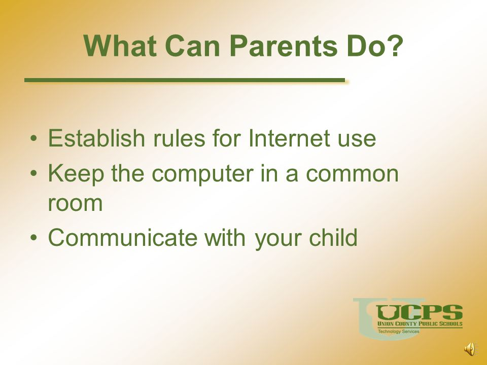 What Can Parents Do Establish rules for Internet use