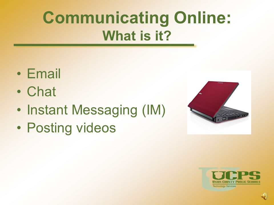Communicating Online: What is it