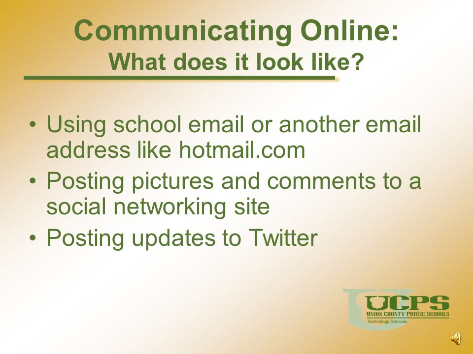 Communicating Online: What does it look like