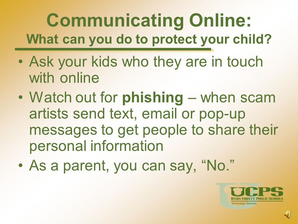 Communicating Online: What can you do to protect your child