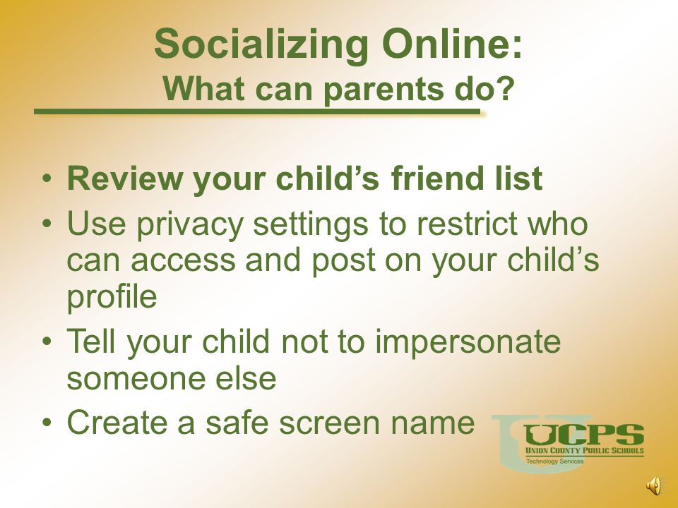 Socializing Online: What can parents do