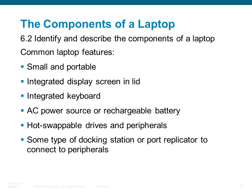 The Components of a Laptop