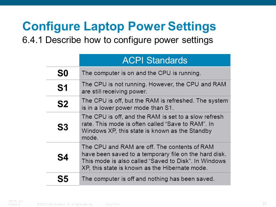 Configure Laptop Power Settings