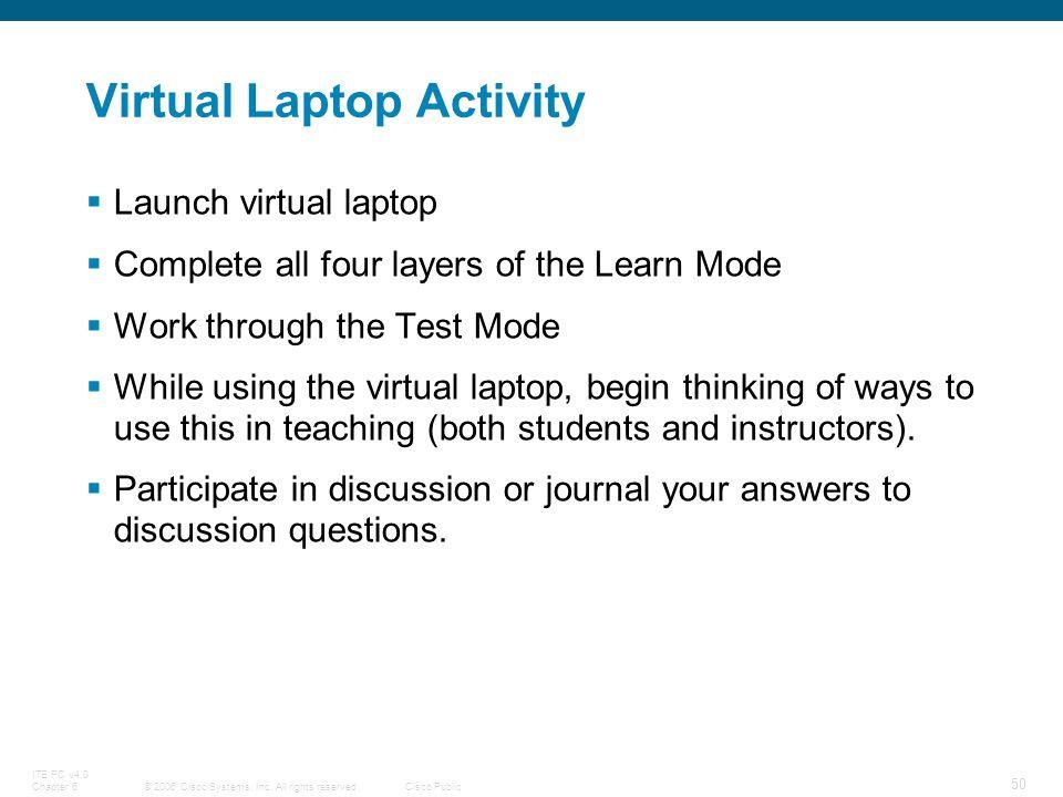 Virtual Laptop Activity