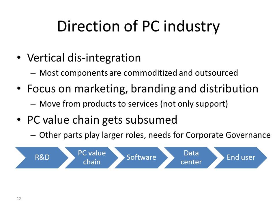 Direction of PC industry