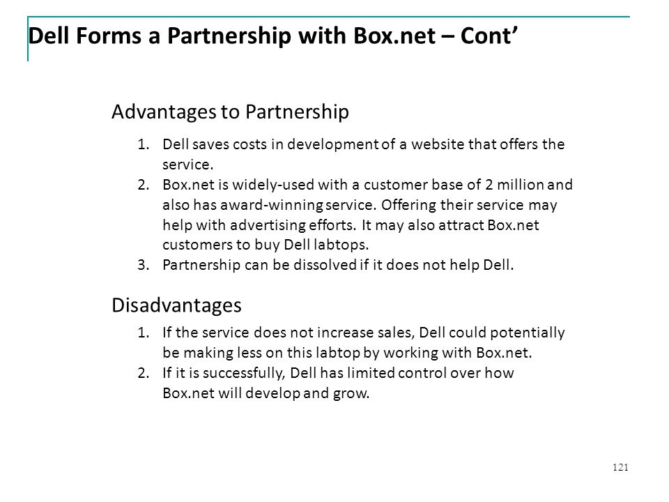 Dell Forms a Partnership with Box.net – Cont'