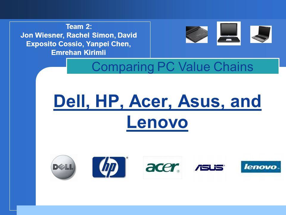 Dell, HP, Acer, Asus, and Lenovo