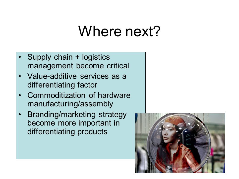 Where next Supply chain + logistics management become critical