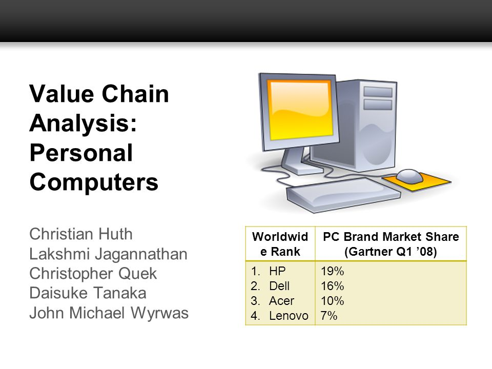 Value Chain Analysis: Personal Computers