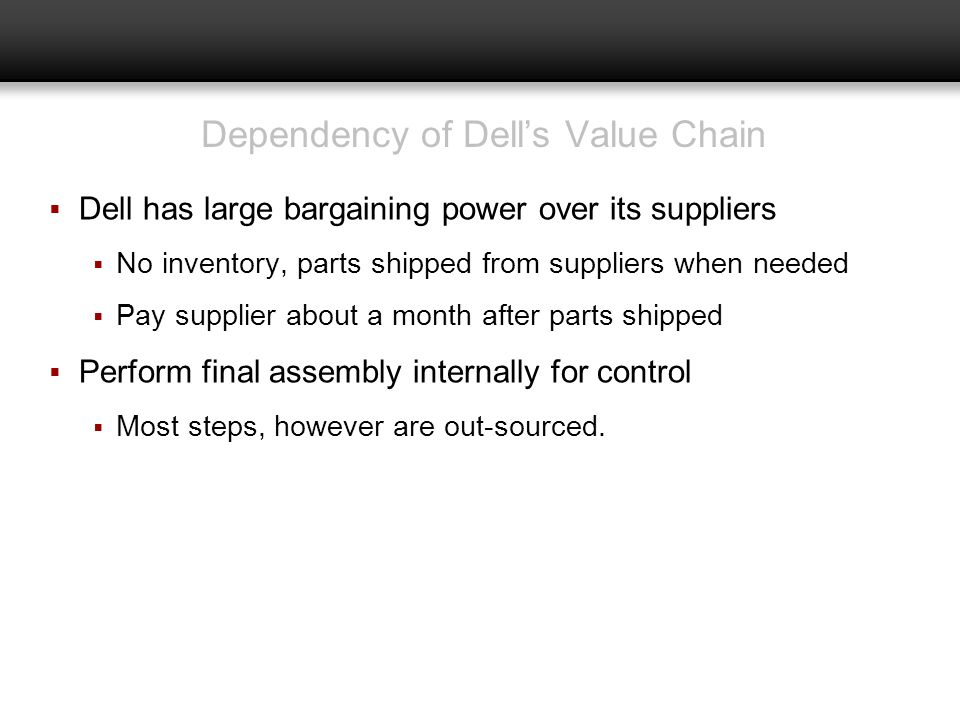 Dependency of Dell's Value Chain