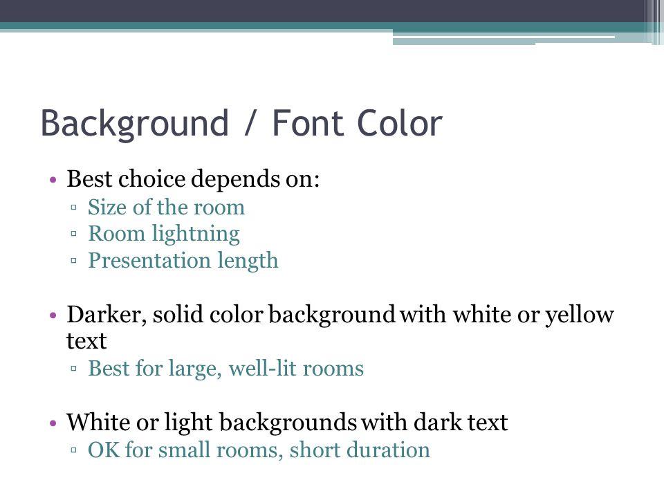 Background / Font Color