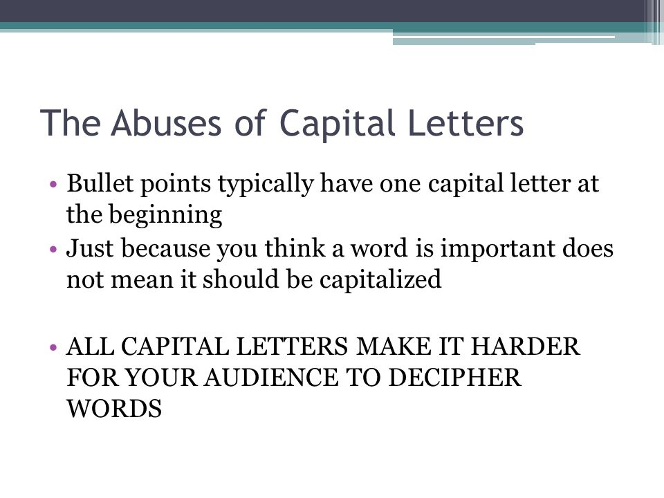 The Abuses of Capital Letters