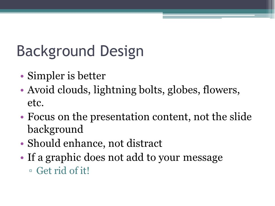 Background Design Simpler is better