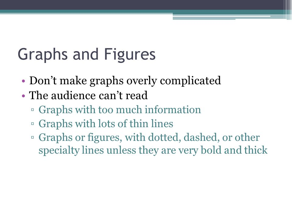 Graphs and Figures Don't make graphs overly complicated