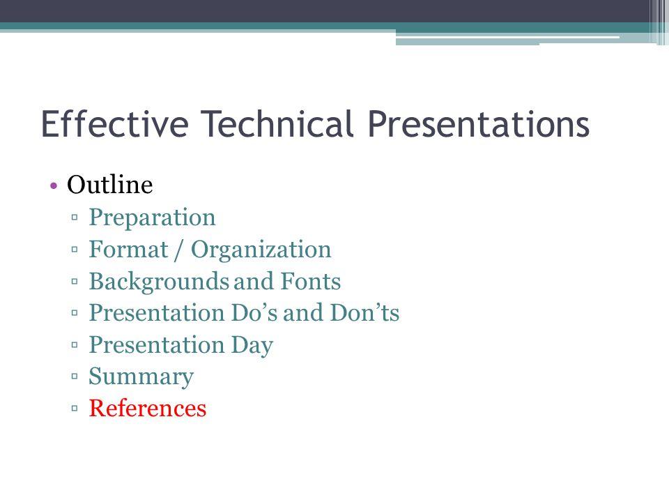Effective Technical Presentations