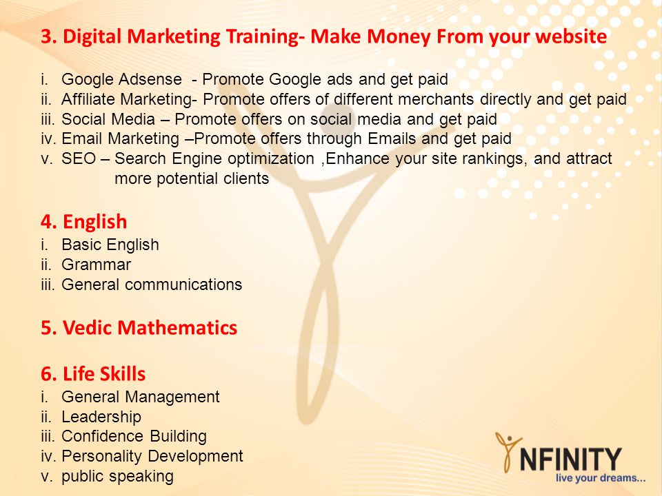 3. Digital Marketing Training- Make Money From your website