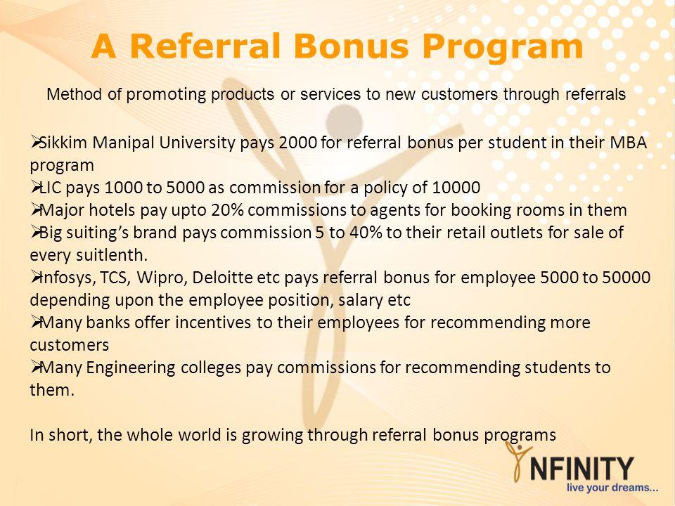 A Referral Bonus Program