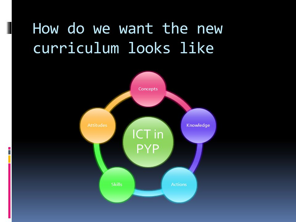 How do we want the new curriculum looks like