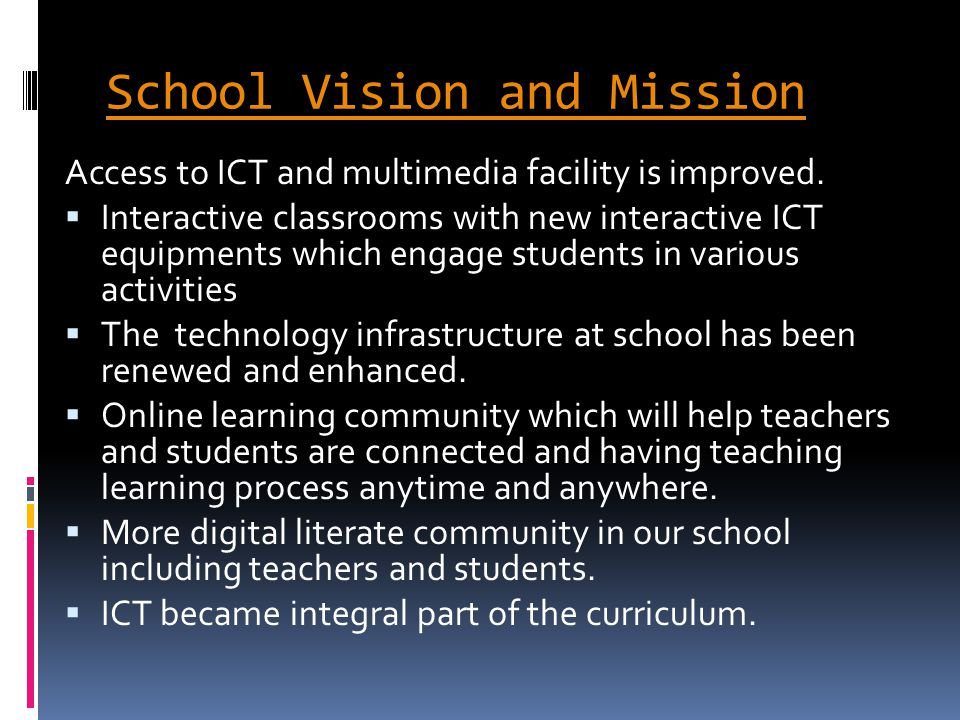 School Vision and Mission