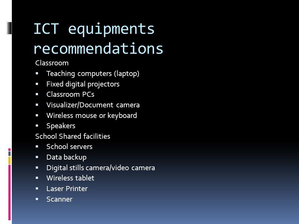 ICT equipments recommendations