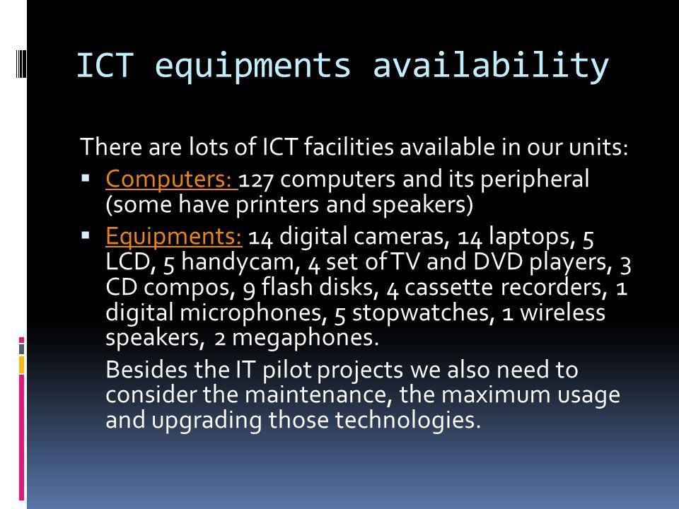 ICT equipments availability