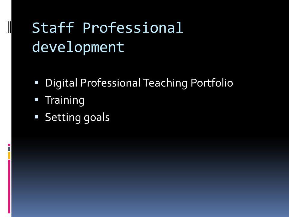 Staff Professional development