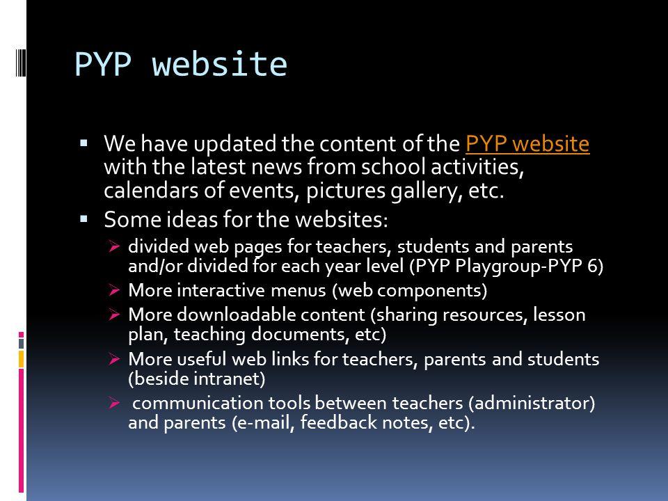 PYP website