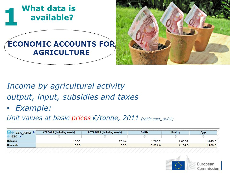 ECONOMIC ACCOUNTS FOR AGRICULTURE