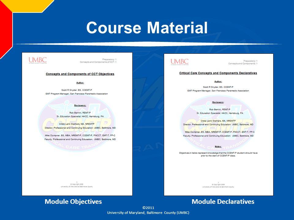 Course Material Module Objectives Module Declaratives