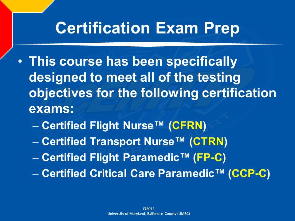 Certification Exam Prep