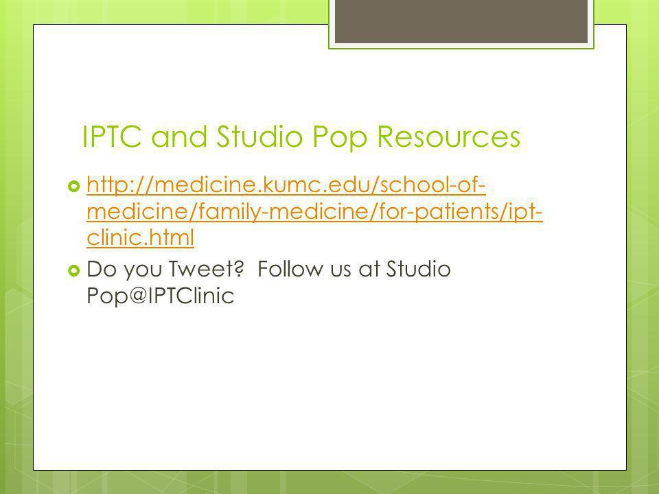 IPTC and Studio Pop Resources