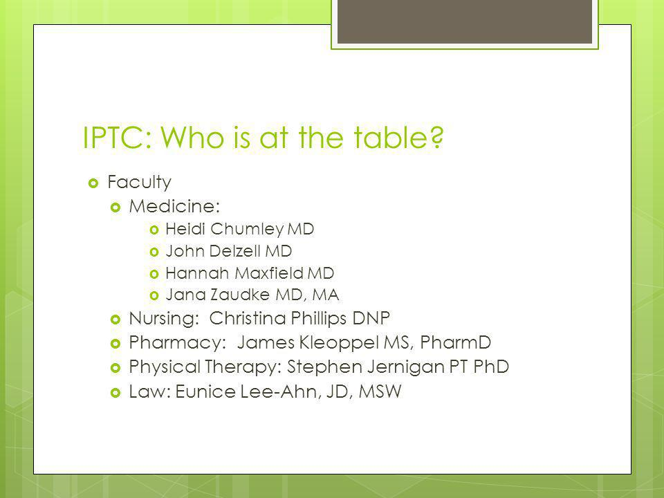 IPTC: Who is at the table
