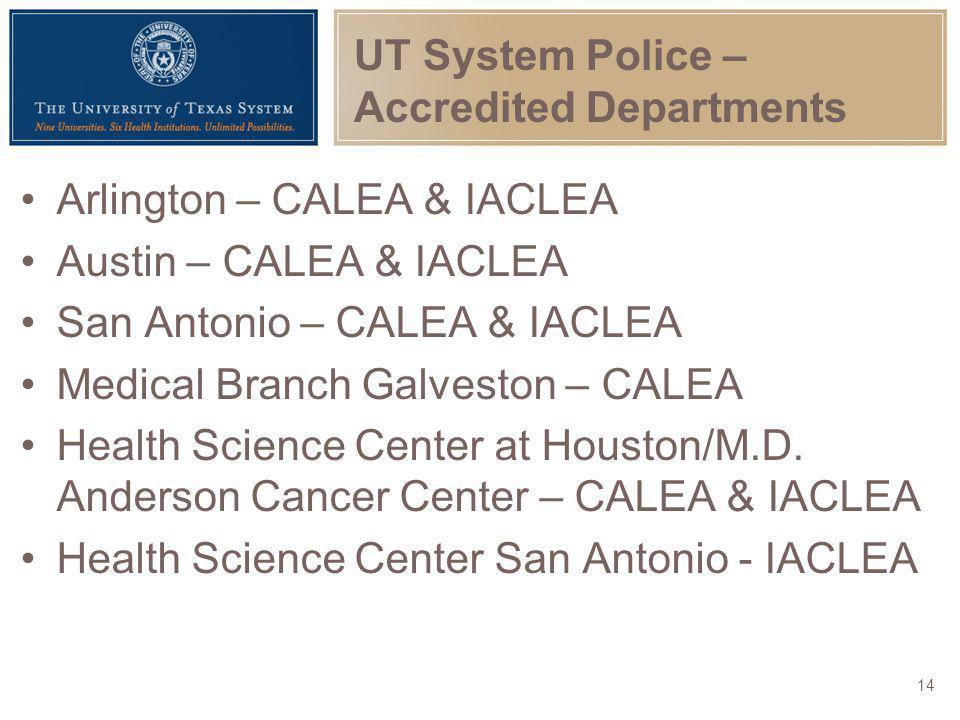 UT System Police – Accredited Departments