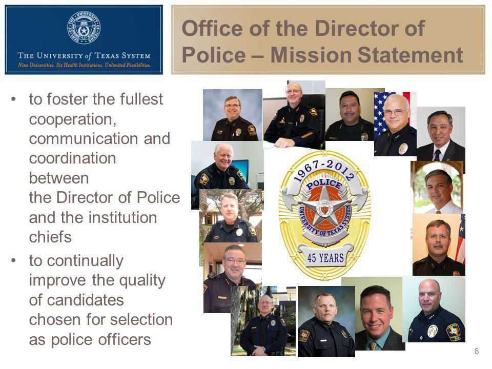 Office of the Director of Police – Mission Statement