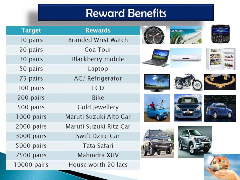 Reward Benefits Target Rewards 10 pairs Branded Wrist Watch 20 pairs