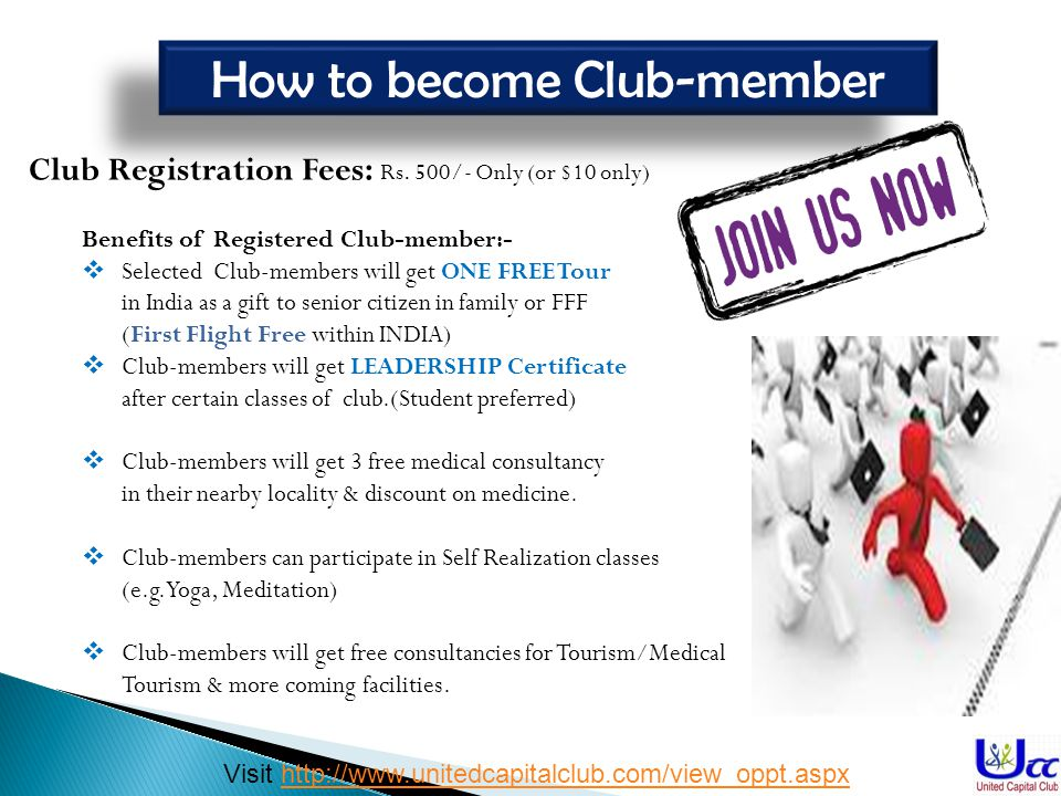 How to become Club-member
