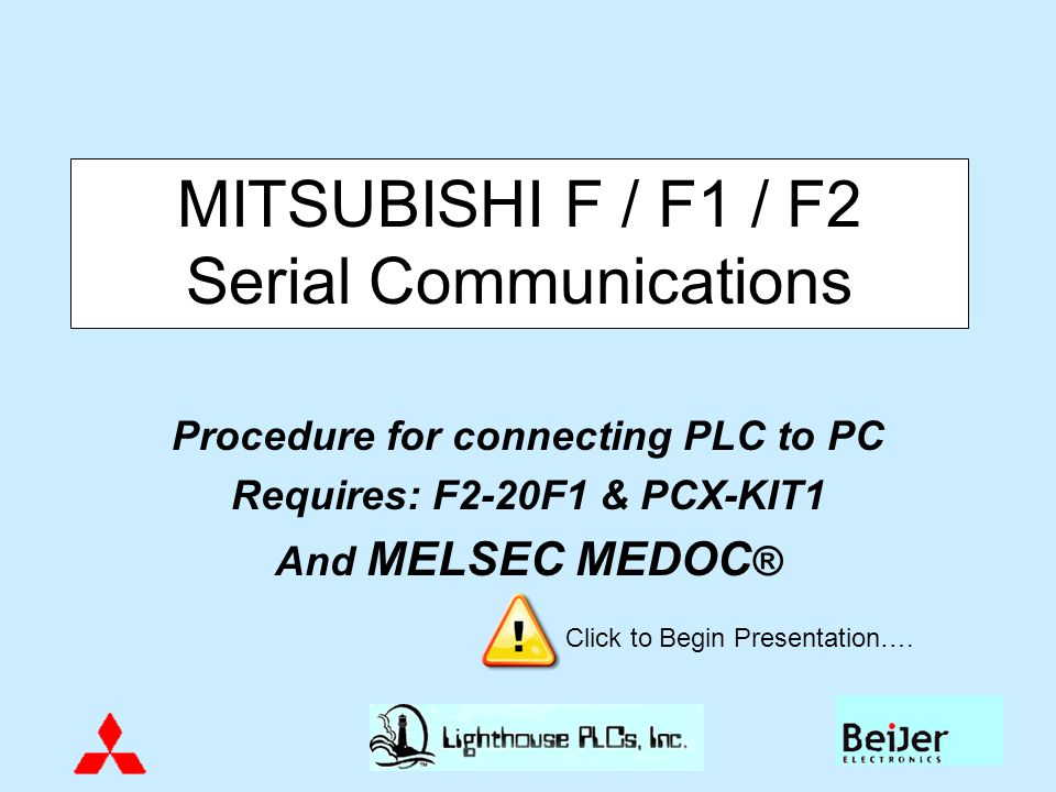 MITSUBISHI F / F1 / F2 Serial Communications