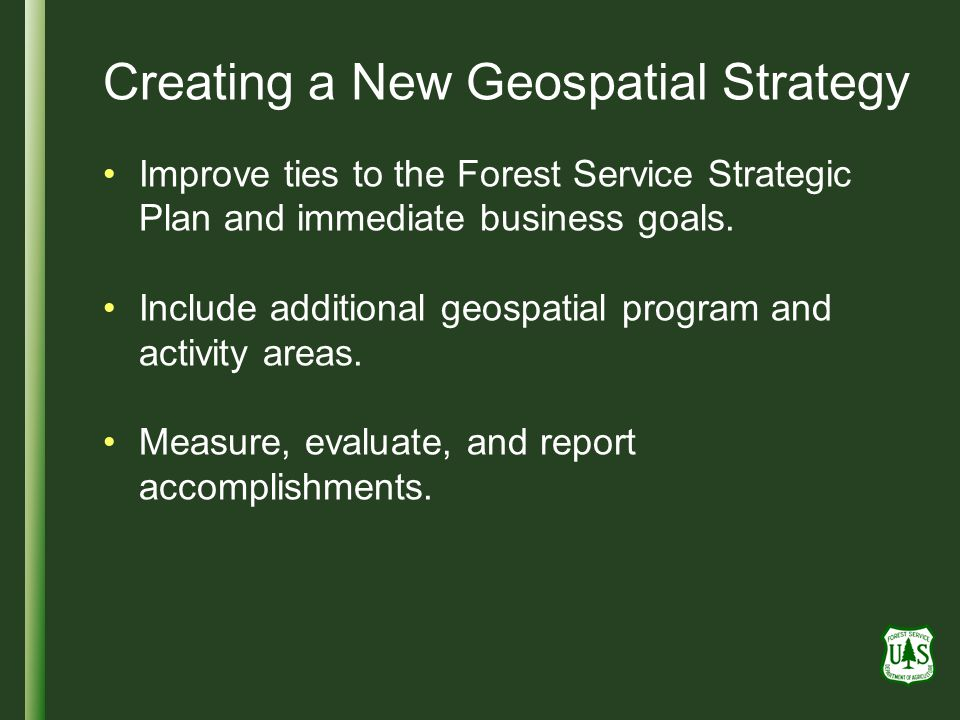 Creating a New Geospatial Strategy