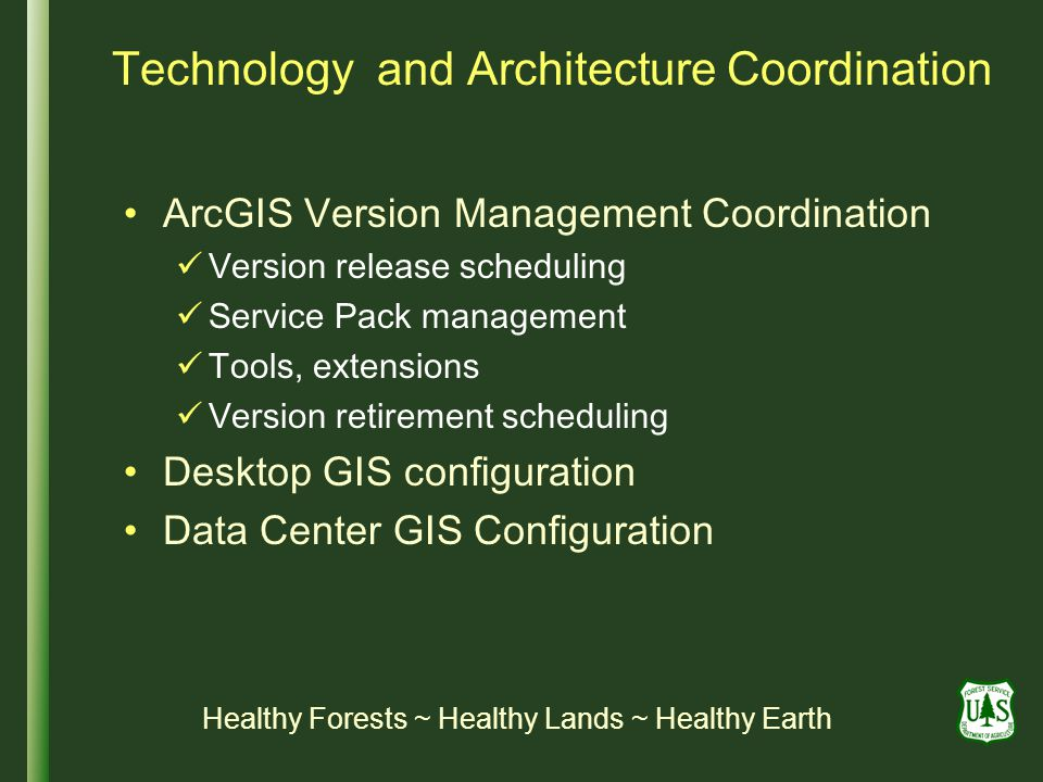 Technology and Architecture Coordination