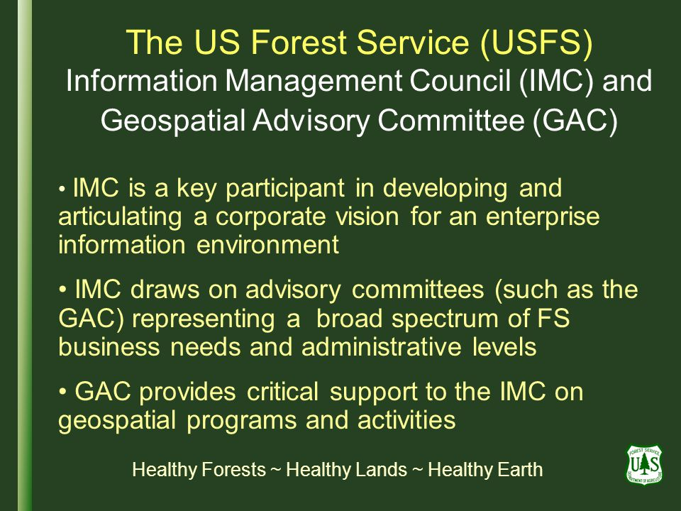 Healthy Forests ~ Healthy Lands ~ Healthy Earth
