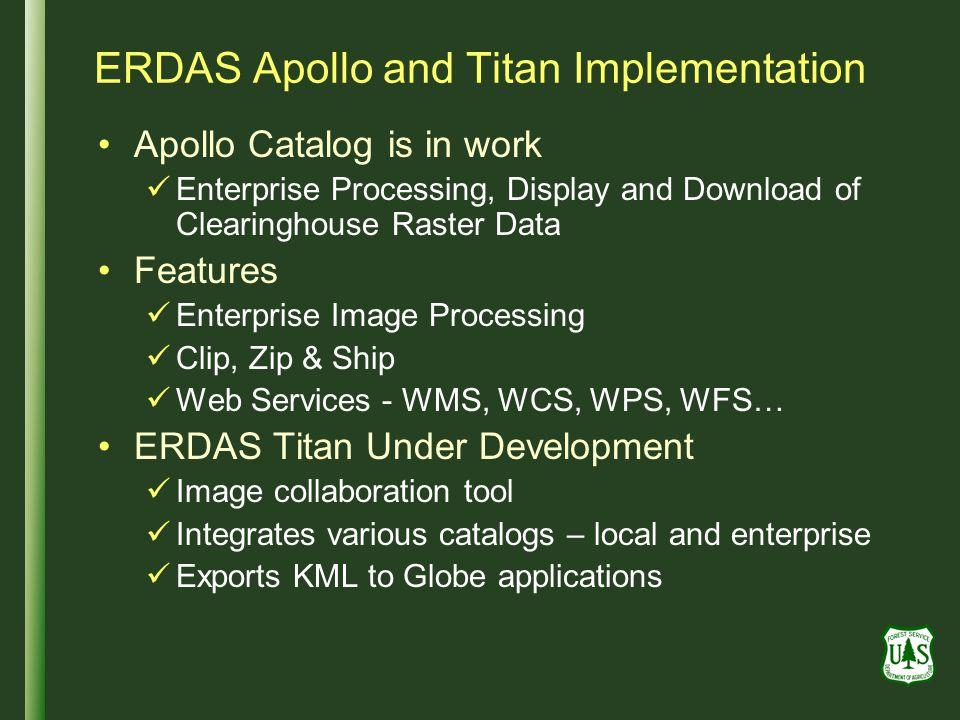 ERDAS Apollo and Titan Implementation